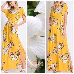 Maribelle Sweet Hibiscus Maxi Dress